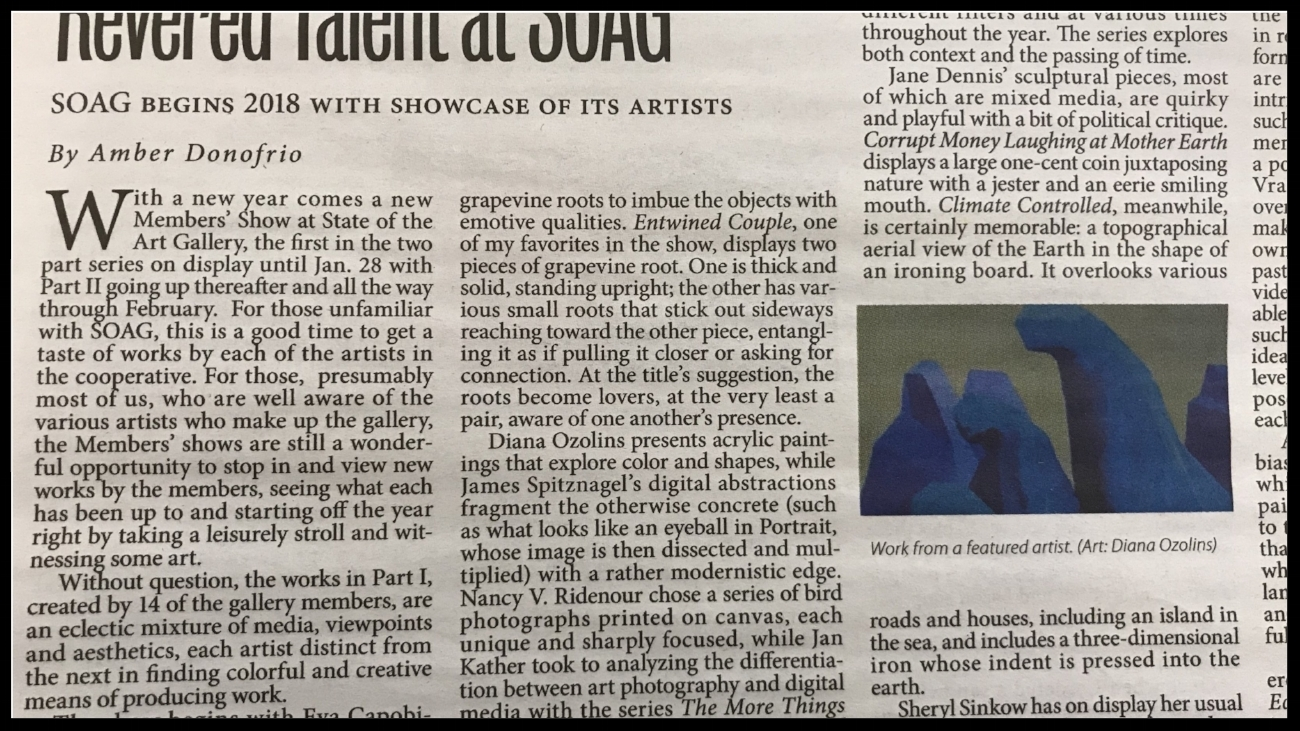 Read review of Members' Part 1 in Ithaca Times